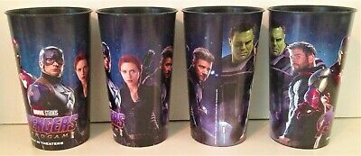 Avengers Endgame Movie Theater Exclusive Four 44 oz Plastic Cups #2