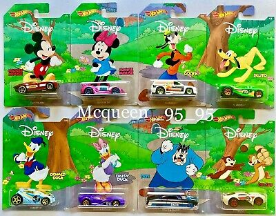 Hot Wheels 2019 Disney 90 Years Of Mickey & Friends Complete Set 8 Car