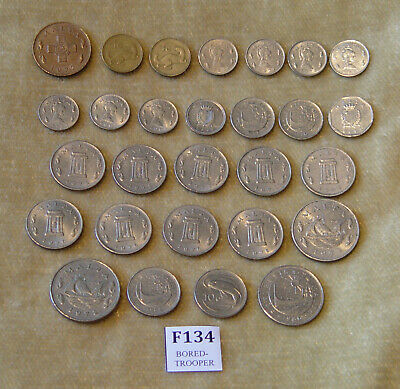 28 Malta Coins 1972 - 1992 1 Cent - 50 Cents Coin Hunt Coins Htf Joblot Currency