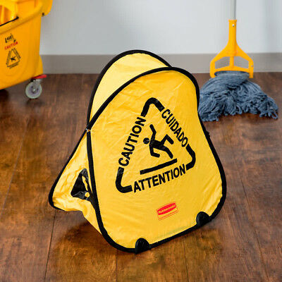 Rubbermaid Commercial Folding Safety Cone with Caution Imprint NEW FREE POSTAGE