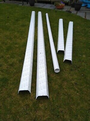 White Squareline Guttering 9m Total and 2.5m Downpipe