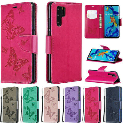 For Huawei P20 P30 Pro P Smart 2019 Luxury Leather Wallet Case Mask Phone Cover