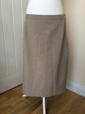 'DESIGN ESSENTIALS' Elasticated Waist Midi Skirt Plus Size 22 Exc. Cond.