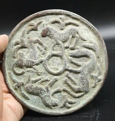 Wonderfull Old Byzantine Roman Round Ram Anmial  Craved Stamp Plate