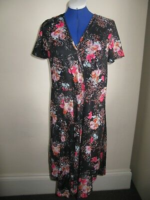 V BY VERY SO FABULOUS DRESS BLACK PINK MIX BNWT UK 14 ( Ted Baker Style flowers)