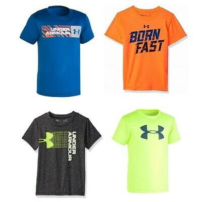 New Under Armour Boy/'s Graphic Print Athletic Shirt SIZE 2T,4,,5,6 MSRP:$18.00