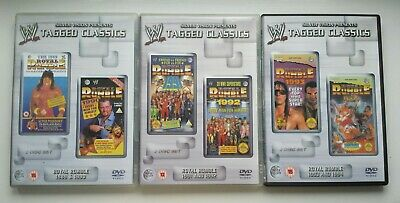 WWE Tagged Classics - Royal Rumble 1989 & 1990 DVD 1 & 2 Rare WWF bundle