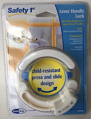 Safety 1st Lever Handle Lock Child Resistant French Door Secure Baby Proof 48400