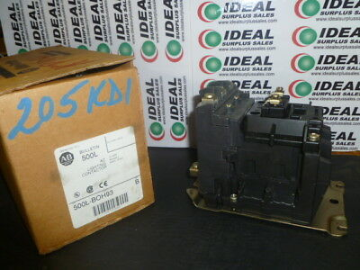 Allen Bradley 500Lboh93 Contactor New In Box