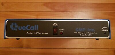 QueCall 4 Line Call Sequencer w/Music on Hold MINT