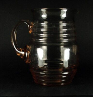 VTG Large Peach Glass Jug 17.5cm VTG | FREE Delivery UK*