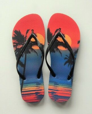 ea770d9d7 DANA BUCHMAN SANDALS Flip Flops Size 11 Extra Large XL Thongs Ladies ...