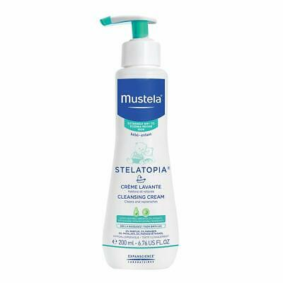 Mustela Stelatopia Cleansing Cream Baby Wash for Eczema-Prone Skin with Natur...