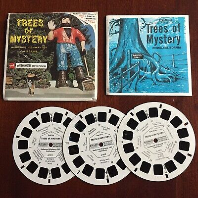 Vintage View-Master 3-Reel Set Trees Of Mystery Redwood Complete Booklet EUC A25