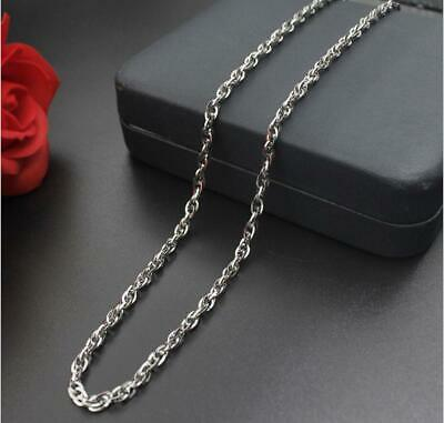 Men Women Cross Double Button Chain Necklace 316L Stainless Steel Fashion Gift