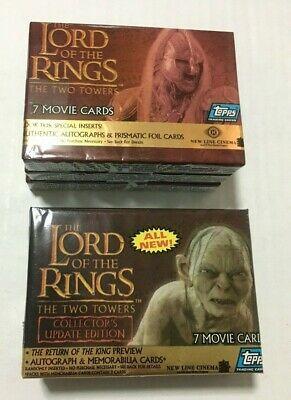 Topps Lord of the Rings LOTR Two Towers + Update Base Cards Set #1-162