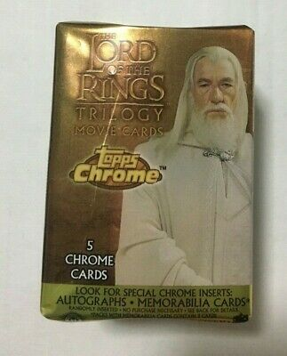 Topps Lord of the Rings LOTR Trilogy Chrome Base Cards Set #1-100