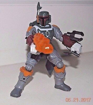 Star Wars BOBA FETT action figure, complete with weapons + jetpack