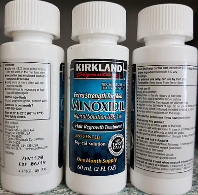Kirkland Minoxidil 5% Extra Strength Men Hair Regrowth 3 months Supply