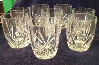 Set 8 Waterford Marquis Brookside High Ball Old Fashioned Glass Tumblers~ EXC