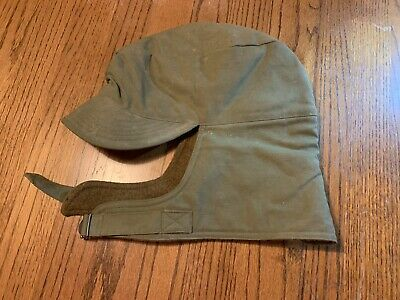 4134102db2e WW2 CCC COLD Weather Field Cap Hat M1907 Type Wool Lining Green ...