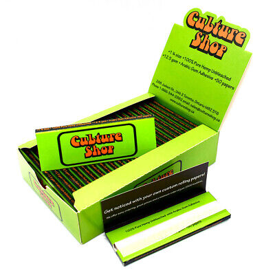 Cu*ture Shop HEMP Rolling Papers 77*45mm 25 Booklets=1000 leaves smoking