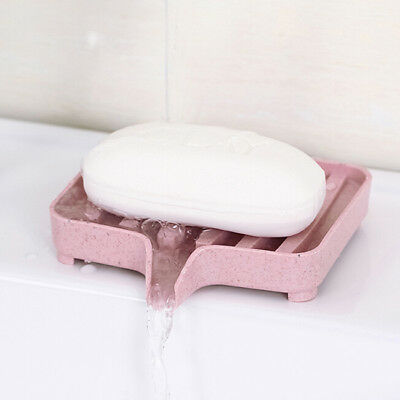 Kitchen Bathroom Useful Silicon Soap Dish Plate Storage Tray Soapbox WE