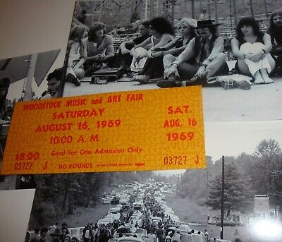 Woodstock  💚 Original 1969 Saturday Ticket Janis Joplin Grateful Dead Bonus Pix