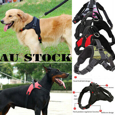 AU High Quality Nylon No Pull Adjustable Large Medium Dog Pet Vest Harness S-XXL