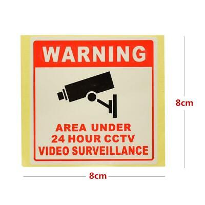 24H CCTV Camera System Warning Sign Wall Sticker Monitoring Decal