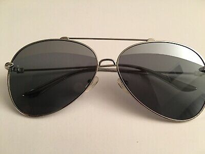cf8607aad390 Pre-owned Aquaswiss 'Tommie' Aviator Pilot Shades Grey Silver TOM07 60-13