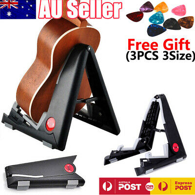 Folding Violin Electric Acoustic Bass Guitar Stand Foldable Floor Rack Holder AU