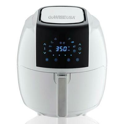 GoWISE USA 8-in-1 Digital Air Fryer Air Fryer Book Non-Stick Pan 5.8-QT White