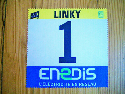 Essuie lunette dossard ENEDIS Tour de France 2019 collection goodies cycling