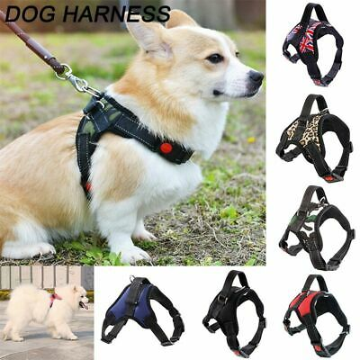 Nylon No Pull Pet Dog Harness Vest Collar Adjustable Soft Hand Strap S/M/L/XL AU