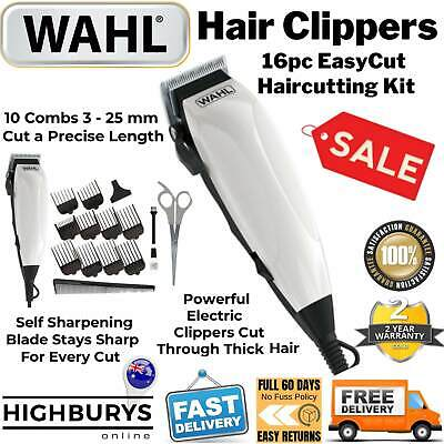 Wahl Hair Clippers Electric Mens Professional Haircut Boys Trimmer Grooming Kit