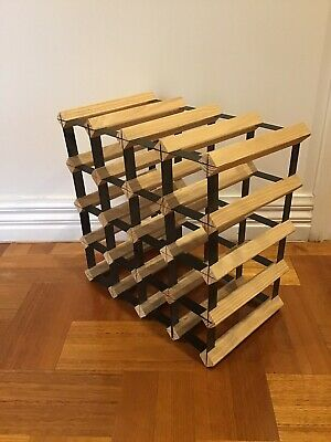 Artiss  16 Bottle Timber Wine Rack Wooden Storage Cellar Vintry Organiser Stand