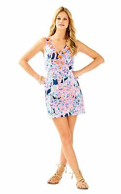 6af2e445accad3 NWT LILLY PULITZER CABREY SHIFT DRESS Pelican Pink Head In The Sand 00/4