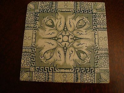 Antique Tile - Aesthetic Movement Design in green 17/143
