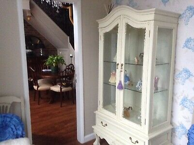 Shabby Chic French Glass Armoire/cabinet