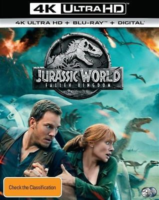Jurassic World - Fallen Kingdom 4K (Blu-ray, 2-Disc Set) Brand New & Sealed