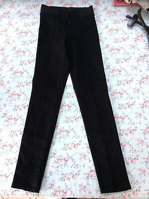 Next Age 10 Black Skinny Leg Trousers Jeggings VGC