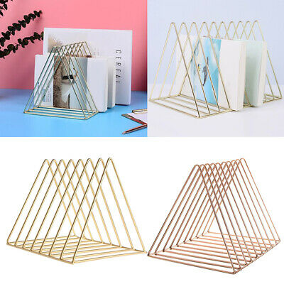 2Pcs Metal Desk Book Holder Modern Minimalist Bookshelf for Home Office