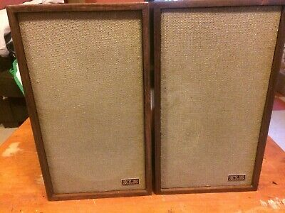 """Pair Klh Model 24 8"""" 2 Way Speakers-Vgc-New Cross Over-Great Sound-30 Day Return"""