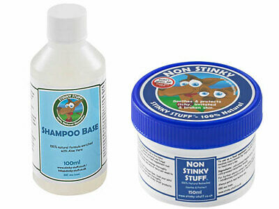 Dog Non Stinky Trial Pack by Stinky Stuff – Rub, Shampoo and Feed Supplement for