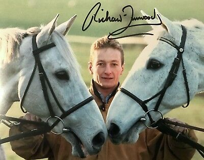 Richard Dunwoody HAND SIGNED 10x8 Desert Orchid Photograph *In Person* COA