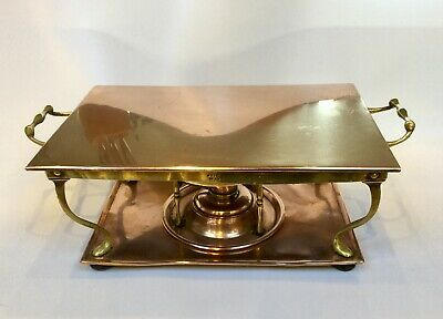 Antique Copper Chafing Tray/warming Tray By Henry Loveridge & Co 1867- 1927