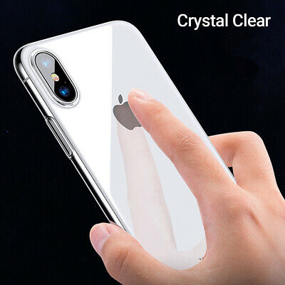 CRYSTAL CLEAR CASE - iPhone XS XS Max X XR Shockproof Hard Shell Thin Slim Cover
