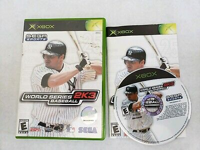 World Series Baseball 2K3 (Xbox, 2003) Complete MINT LN FREE FAST SHIPPING