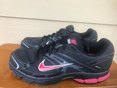 6093151e2e1f Nike Air Zoom Structure Triax 11 Women s Running Shoes Black Pink Size 9